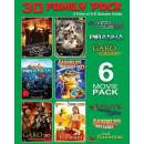 3D FAMILY PACK Pack Of 6 Movies