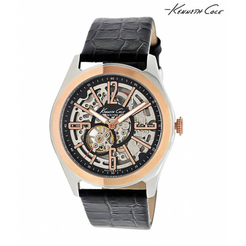 Kenneth Cole Gold Plated Bezel Watch (IKC1792)