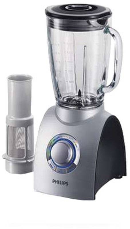 PHILIPS ALUMINIUM COLLECTION BLENDER HR 2094/00 750 W 2 L GLASS